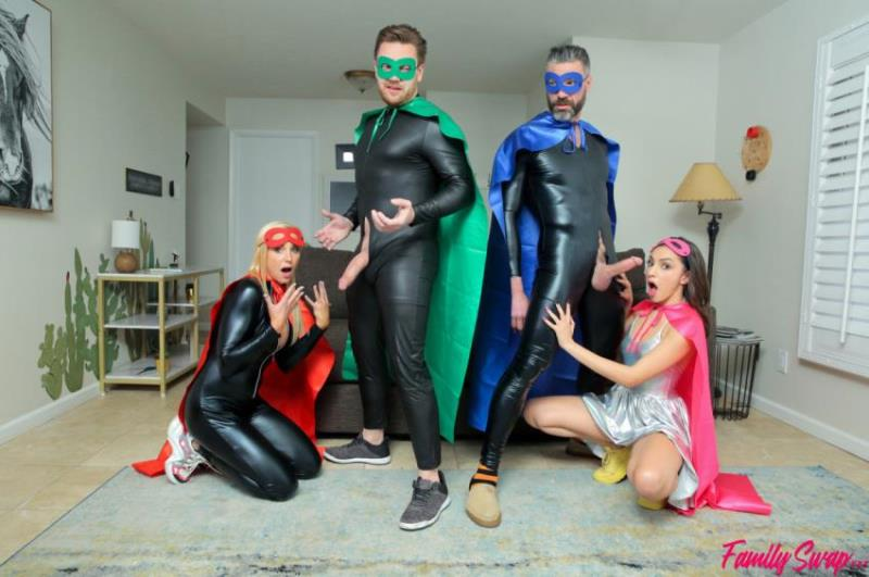 FamilySwap.xxx/Nubiles-Porn.com - Hime Marie, Sophia West - When My Swap Family Does A Super Hero Event (720p/HD)