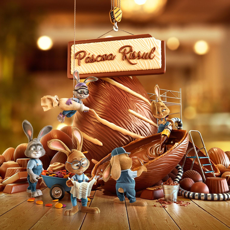 Приуроченная к пасхальным праздникам рекламная кампания сети супермаркетов Super Rissul / фото 01