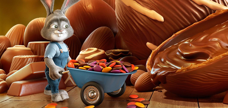 Приуроченная к пасхальным праздникам рекламная кампания сети супермаркетов Super Rissul / фото 06