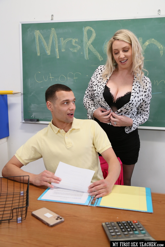MyFirstSexTeacher.com/NaughtyAmerica.com - Charlotte Rayn, Johnny the Kid - Charlotte Rayn wants to fuck her student while her husband watches on video call (720p/HD) - May 1, 2021