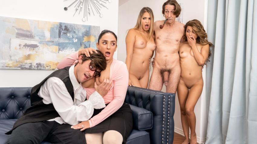 BrazzersExxtra.com/Brazzers.com: Steve Holmes, Gizelle Blanco, Destiny Cruz - Dont Tell Mom Were Fucking Her Man [HD 720p] (610 MB) - March 17, 2021