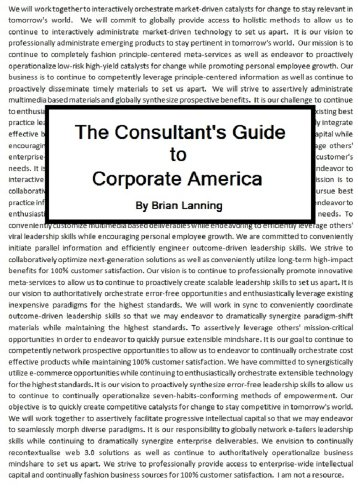 The Consultant's Guide to Corporate America