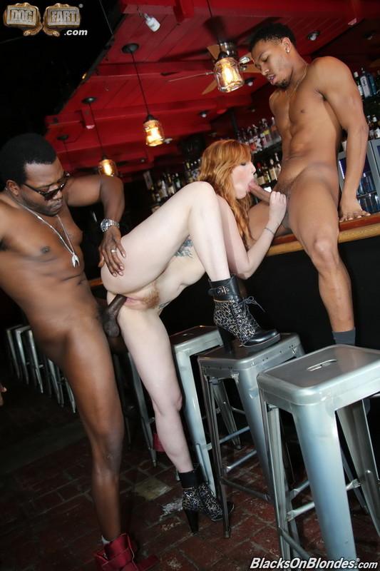 BlacksOnBlondes/DogFartNetwork - Lauren Phillips [Two Big Black Cock] (FullHD 1080p)