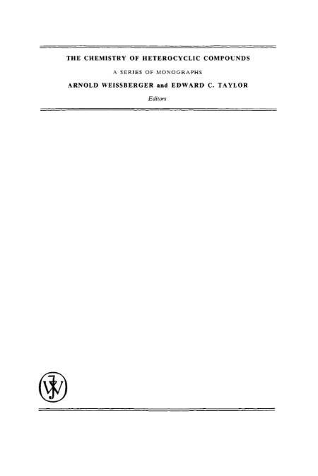 The Chemistry Of Heterocyclic Compounds Condensed Pyrazines
