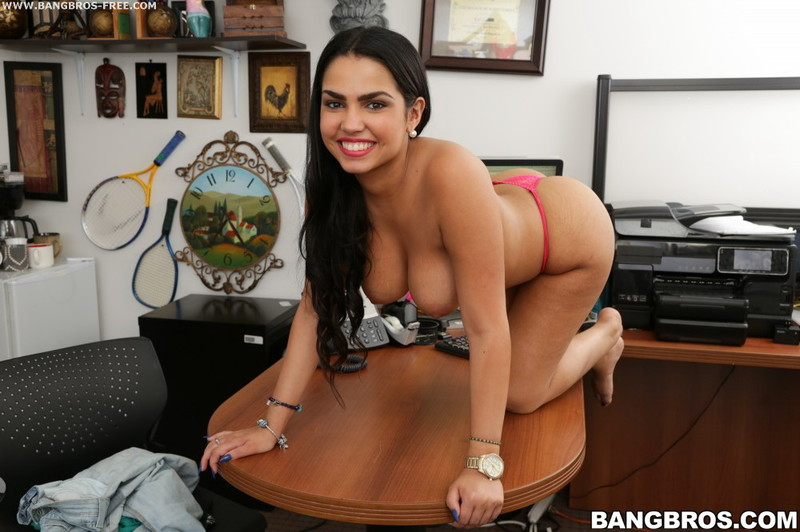 Ada Sanchez ~ Busty Latina Newbie Fucked and Drenched in Cum ~ HoInHeadlights/BangBros ~ HD 720p