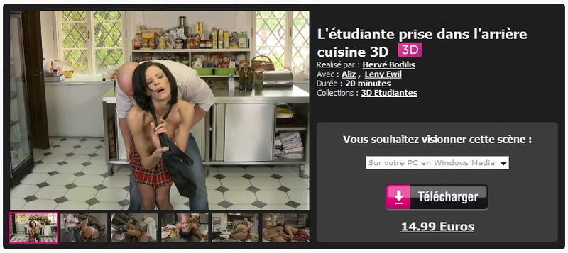 Dorcelvision: Aliz, Leny Ewil - Letudiante prise dans larriere cuisine 3D [FullHD 1080p] (1.82 GB)