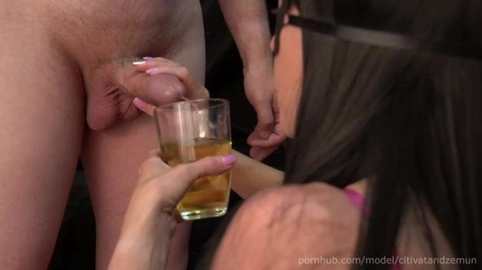Porn.com: Citivat And Zemun - I drink my man. I drink a cocktail from his amazing urine with a drop of semen from arousal [FullHD 1080p] (180 MB)