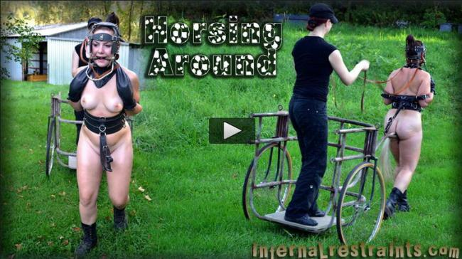 InfernalRestraints.com: Sasha, Claire Adams - Horsing Around [HD 720p] (654 MB)