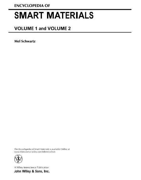 Encyclopedia of smart materials