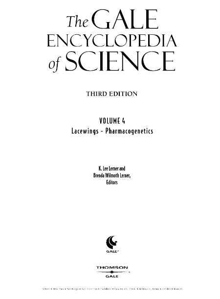The Gale Encyclopedia of Science Volume 4 Gale 2004