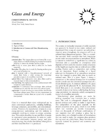 Encyclopedia of Energy Volume 3