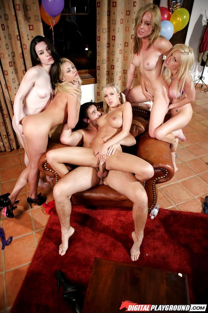 Kayden Kross, Riley Steele, Jesse Jane, Stoya, BiBi Jones - Babysitters (DigitalPlayground/SD) - Flashbit