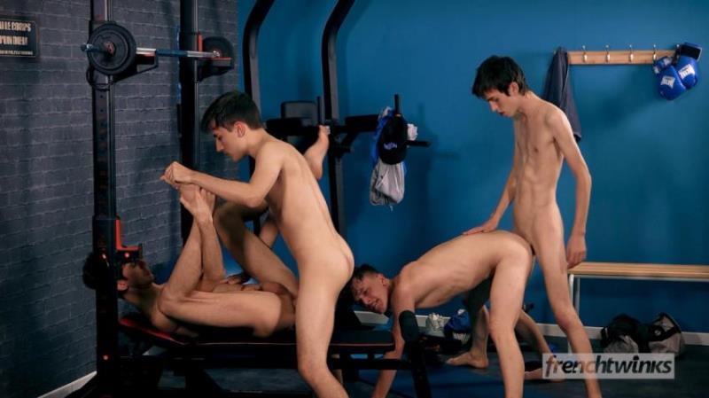 French-Twinks.com: Paul Delay, Mael Dumas, Jules Laroche, Alex Faux - Orgy at Gym [FullHD 1080p] (879.51 Mb)