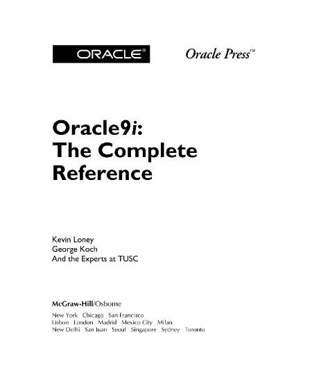 Osborne Oracle9i The Complete Reference  [ENG]