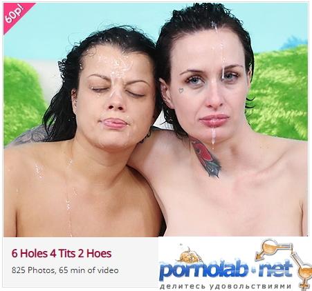 Nadia White, Brooke Lyn Rose ~ 6 Holes 4 Tits 2 Hoes ~ FacialAbuse.com ~ FullHD 1080p