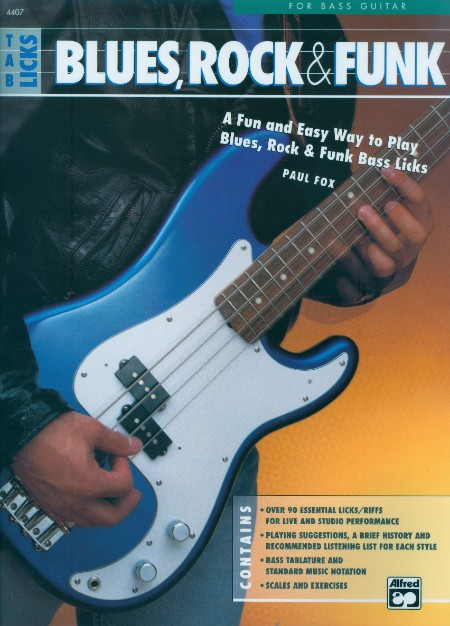 Blues Rock And Funk Bass Tab Licks