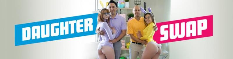 DaughterSwap.com/TeamSkeet.com: Katie Kush, Cecelia Taylor - Naughty Bunnies Easter Swap [SD 360p] (478.05 Mb)