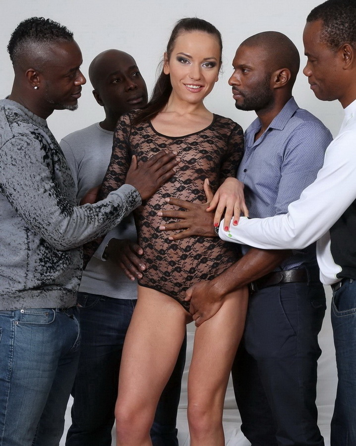 Nataly Gold ~ Watch and see how four black guys destroy her ass IV033 ~ LegalPorno ~ HD 720p