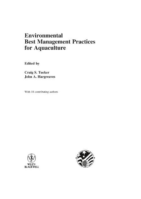 Environmental Best Management Practices For Aquaculture