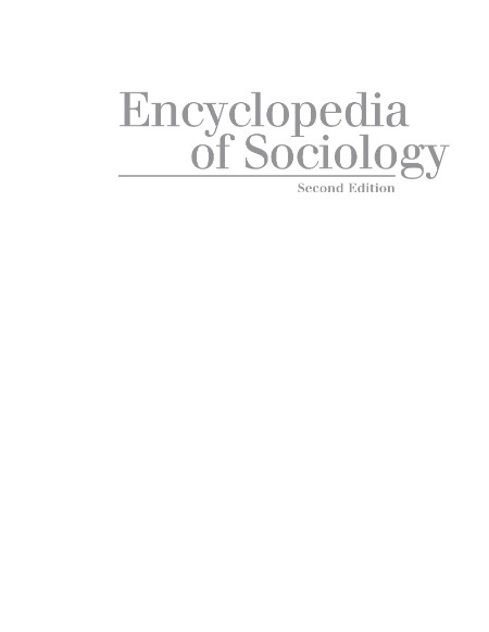 Encyclopedia Of Sociology Edition 2 Volume 4