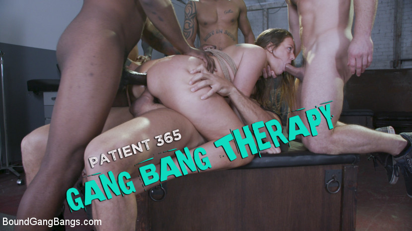 Febby Twigs, Ramon Nomar, Eddie Jaye, Robby Echo, John Johnson, Dillon Cox - Patient 365: Gang Bang Therapy [BoundGangBangs.com/Kink.com] 540p 540p - March 4, 2020